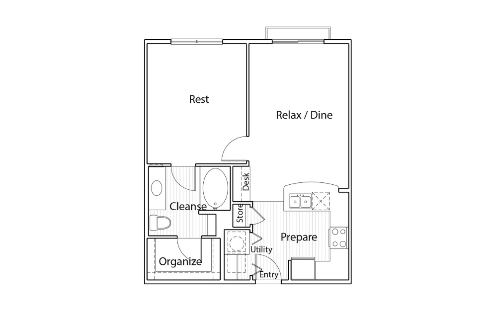 A2J - One Bedroom, One Bath Apartment Home in Austin, TX